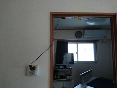小型カメラ設置風景②